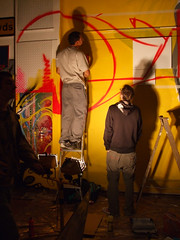 Live graff on opening night (LotzUp) Tags: show streetart art greek graffiti brighton artist gallery greece artists artspace kai1 fors 101ers 101crew thekrah greekartist drren visualimprints