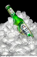 No Alcohol ! (Jamal Alayoubi) Tags: life black green ice apple beer studio photo bottle still cool nikon drink ad german commercial alcohol cube 24 kuwait nikkor non 70 fj d3 islamic jamal faisal holsten alayoubi albisher