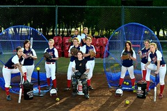 Axe Softball Club looking tough...