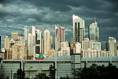 Sydney Skyline (Geoff A Roberts) Tags: street leica city storm color colour film skyline clouds 35mm photography 50mm photo nikon fuji photographer scanner geoff sydney streetphotography australia rangefinder super m 150 cbd 100 mp noctilux roberts 5000 coolscan reala streetphotographer leitz geoffroberts