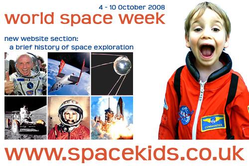 Spacekids World Space Week 2008 Flyer
