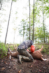 dinner prep (bigbuzzhunt) Tags: field hunting dressing deer bow reality archery buck hunt whitetail