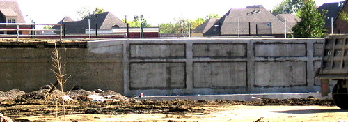 Amtrak Retaining Wall After