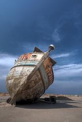 It had better times.... (FX-1988) Tags: vintage israel boat junk it jaffa times had wreck better hdr