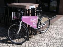 Bicicleta como display de publicidade