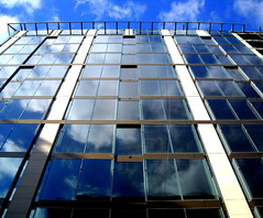 a blue reflection (NCinDC) Tags: reflection washingtondc dcist 12thstreet fstreet