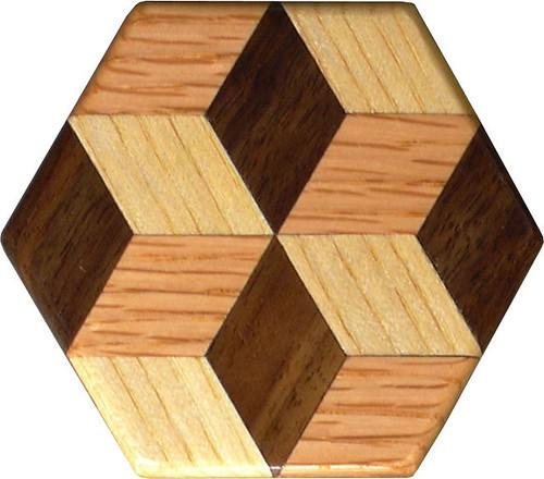 Tiny Tumbling Block Pattern Weight 3