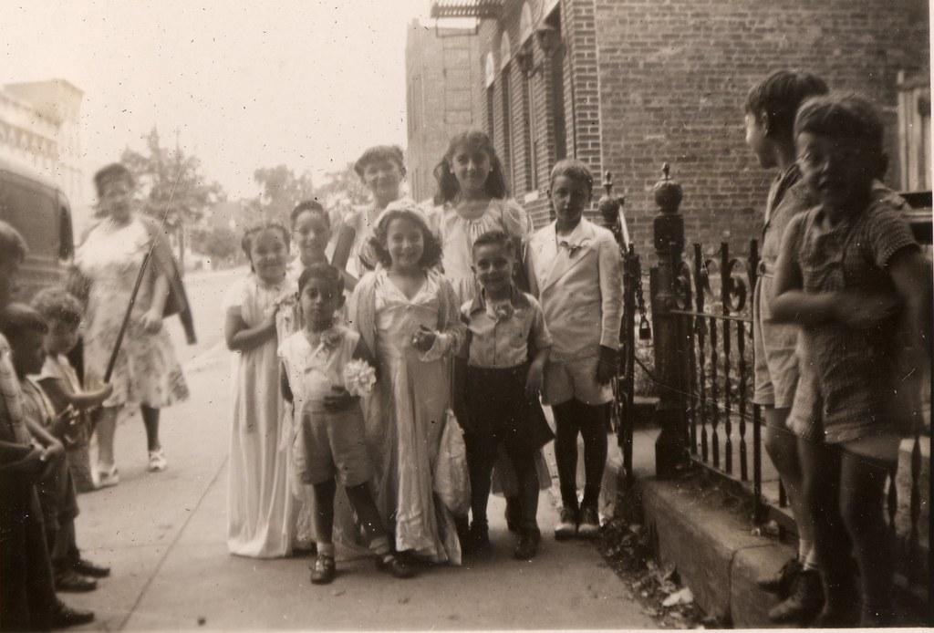 A mock-wedding on Elton Street