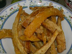 fried pumpkin chips