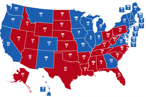 2008 projection obama 305 mccain 233