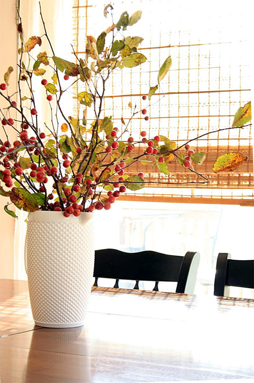 berry branches on the table