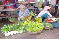Flowers For Me (cwgoodroe) Tags: food art me beer river pig town october war asia village market an vietnam southeast hoi tailors danang checkens bambohats