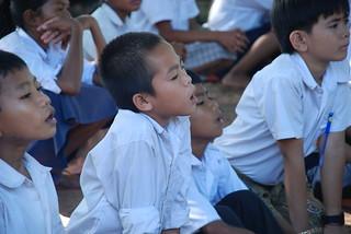 Children listening to storytelling