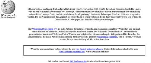 Linke Politiker lässt wikipedia.de sperren