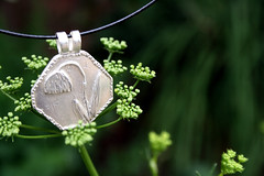 Enchanted Garden (jewelflyt) Tags: green nature silver garden bokeh handmade etsy parsley madebyme pendant enchanted pmc preciousmetalclay finesilver jewelflyt