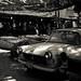 Fruit market & old Peugeots