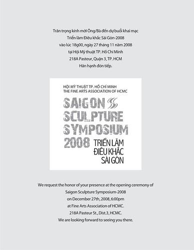 Thiep moi Mat sau Saigon Sculpture Symposium by you.