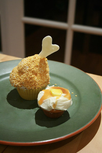 Thanksgiving Dinner Cupcakes - Drumstick & Mashed Potatoes