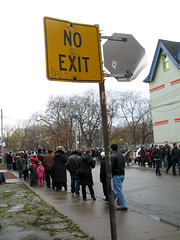 Waiting to Get Into the Art Gallery of Ontario...