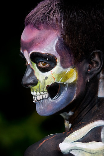 Skull On Body Painting Pictures
