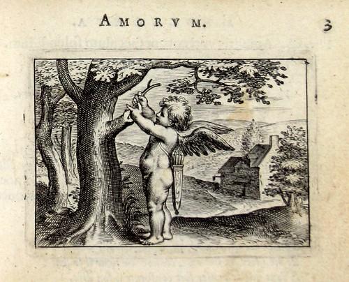 03 Crescent illae, crescetis amores-Cupido realizando un injerto en un árbol