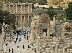 View from the Curetes Way to the famous Library of Celsus (Alaskan Dude) Tags: travel turkey ruins ephesus efes libraryofcelsus