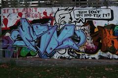 Promo (Richard Cocks) Tags: graffiti promo tag skatepark guildford stokepark rume
