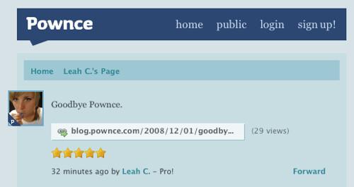 Pownce Shutting Down on December 15th