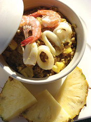 Baked Curry Rice with Pineapple and Seafood (Lanna Info Media) Tags: thailand rice pineapple seafood recipes thaifood thaicuisine thairecipes