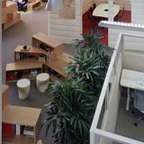 Library Area with Plants in Google Office - America