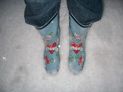 Rainboot love (pasta812) Tags: snow rainboots