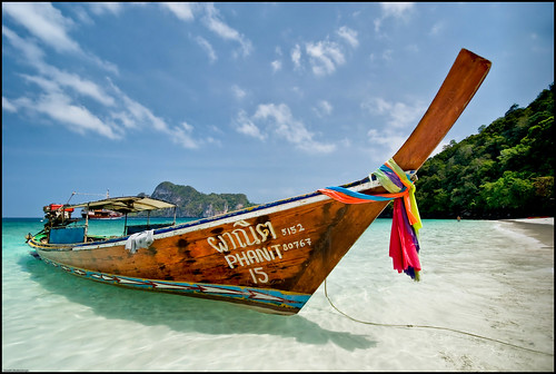 Traditional Thai Long Tail Boat - Koh Phi Phi, Thailand by Souvik_Prometure