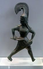 Brazen Amazon (diffendale) Tags: museum bronze greek ancient amazon support tripod helmet athens crest greece national figure rod warrior figurine picnik statuette archaic trikala thessaly palaiokastro 6thcbce nopleiades pleiades:findspot=540947
