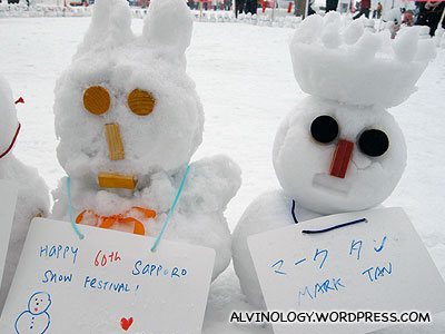 Meiyen and Marks snowmen