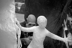 Utopia (crocketpocket) Tags: street bw man rain work stand kid nikon hand mask e rocket statua bianco nero trap utopia scultura restauro freez ragione d80