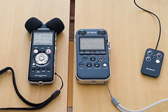 LS-10 and PCM-M10 - top view