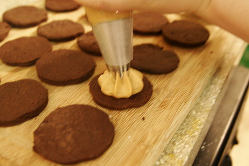 Chocolate Peanut Butter Sandwich Cookies 006