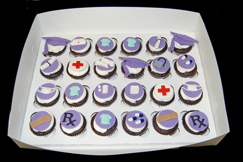 nursing school graduation purple and silver