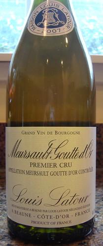 "2007 Louis Latour Meursault 1er Cru ""Goutte d'Or"""