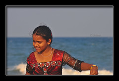 Dancing Mermaid! (Jehane*) Tags: ocean sea india beach girl nikon marinabeach chennai jehane 2011 dancingmermaid nikond5000 jehanephotography
