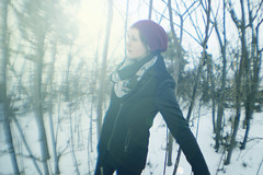 winter (chelsearoberson) Tags: winter portrait fish snow eye ice self canon 50mm attachment selfie sleet 2014 t2i chelsearobersonphotography