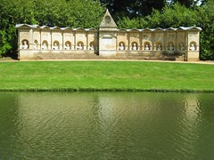 Stowe Gardens Impressionism (richardr) Tags: old uk greatbritain england lake building english heritage history water gardens architecture reflections garden geotagged europe european unitedkingdom britain buckinghamshire historic georgian british stowe allegory nationaltrust europeanunion folly arcadia arcadian georgianarchitecture palladian stowegardens williamkent historicalplaces bathstone eighteenthcentury stowelandscapegardens worthies augustan stowelandscapegarden palladianarchitecture stowegarden templeoftheworthies templeofthebritishworthies whiggish geo:lat=52029664 geo:lon=1013612