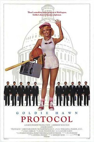 Protocol movie poster, with Goldie Hawn (1984)
