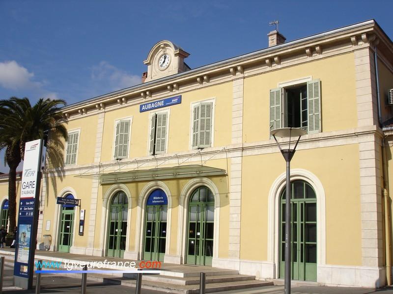 La gare SNCF d'Aubagne, ville de naissance de Marcel Pagnol