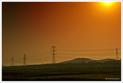Energy Lines (Dashuki Mohd) Tags: travel red sun landscape lights southkorea tamron1750mm canon400d awe2020 hwaseongcity