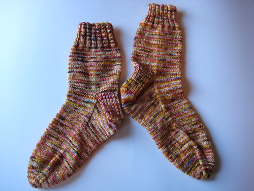 Kettle-dyed, big sister socks