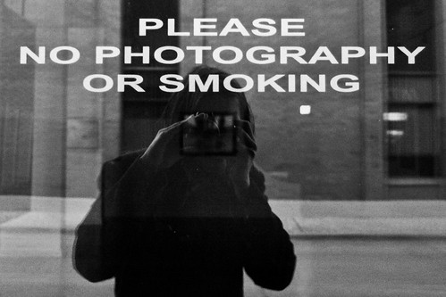 NO PHOTOGRAPHY...OR SMOKING