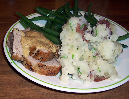 Pork Tenderloin with Mustard Sauce