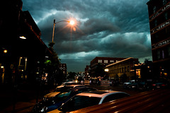 Storm's Comin'! (Nick, Programmerman) Tags: storm clouds streetlight oldmarket 1635 xti omahaflickr upcoming:event=701151