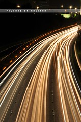 One Way Highway (Sarah Al-Sayegh Photography | www.salsayegh.com) Tags: street light cars night aperture nikon exposure kuwait d300 nikond300
